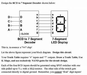 Solved  Design The Bcd To 7 Segment Decoder Shown Below Co
