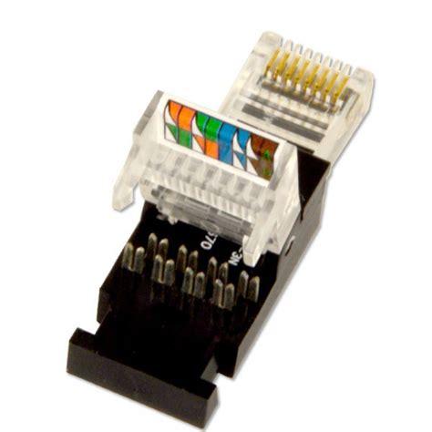 rj45 stecker verlegekabel 10x netzwerk rj45 stecker tooless f 252 r cat5e verlegekabel montage ohne werkzeug