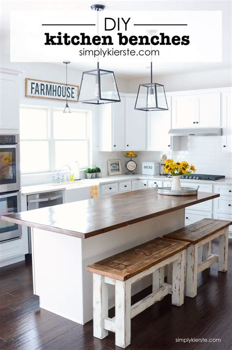 kitchen island furniture with seating diy kitchen benches simply kierste design co