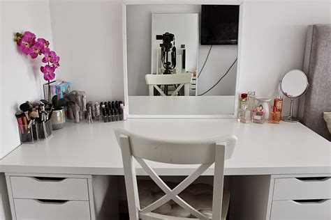 makeup desk with ikea makeup desk storage and organization linnmon alex