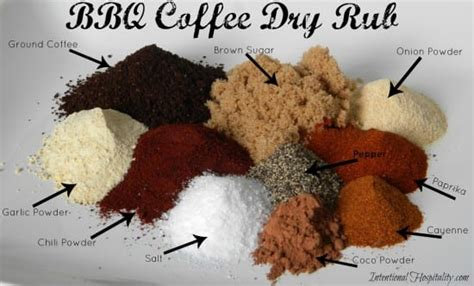 Refrigerate for 6 hours then rinse with cold water and discard brine. Easy BBQ Coffee Dry Rub Recipe for Ribs, Steak, Pork ...
