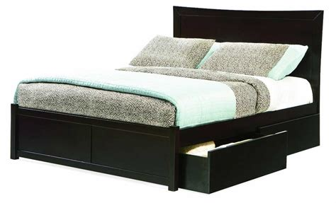 size bed frame with drawers modern black painted oak wood size bed frame with