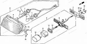 Honda Motorcycle 1989 Oem Parts Diagram For Taillight