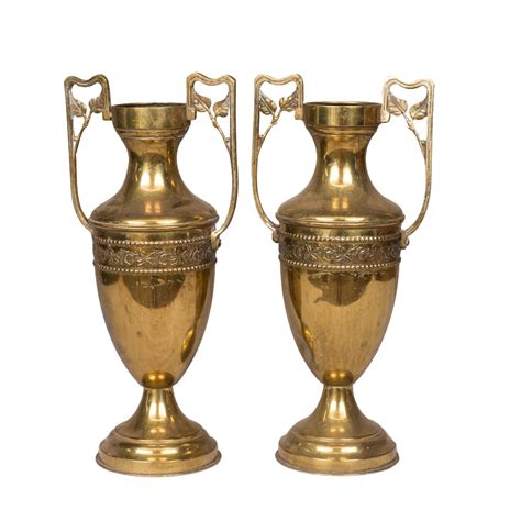 Gold Vases by Garian Gold Vases Pair Found Vintage Rentals