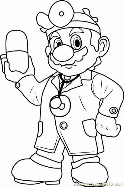 Mario Coloring Pages Super Dr Colouring Games