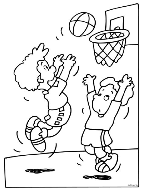 Kleurplaat Basketbal by Basketbal Knutselpagina Nl Knutselen Knutselen En Nog