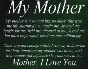 quotes  honor deceased mothers quotesgram