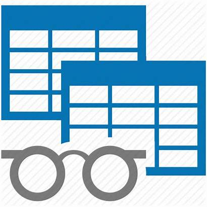 Icon Database Views Table Analyze Analyse Icons