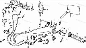 Honda Motorcycle 1983 Oem Parts Diagram For Switch    Cable