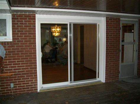 patio sliding glass door display