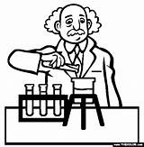 Scientist Coloring Pages Science Drawing Professions Famous Being Getdrawings sketch template