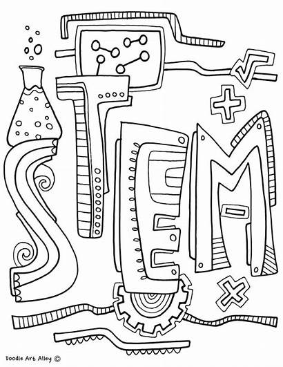 Coloring Pages Engineering Subject Technology Notebook Stem
