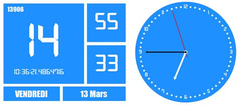 afficher horloge sur bureau windows 7 time2015 i media