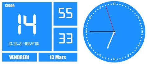 horloge de bureau windows time2015 i media