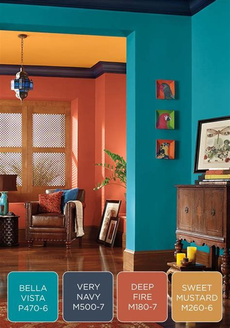 image result for jewel tone blue paint behr living rooms