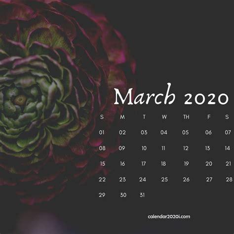 march  floral calendar printable calendar printables