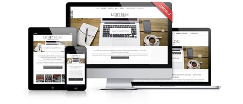 Template Joomla by Light Blog Free Joomla 3 Responsive Bootstrap Template