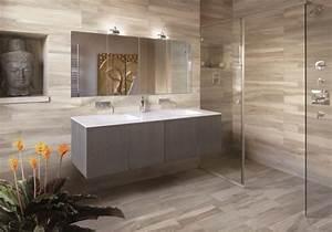 Carrelage Imitation Bois Salle De Bain : fa ence salle de bains 88 des plus beaux carrelages design ~ Melissatoandfro.com Idées de Décoration