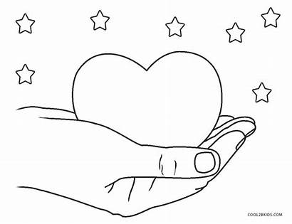 Coloring Heart Pages Printable Hearts Stars Cool2bkids