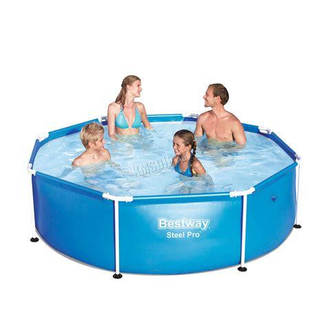 frame pool bestway bestway family swimming paddling steel pro frame pool