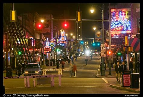 picturephoto beale street  night memphis tennessee usa