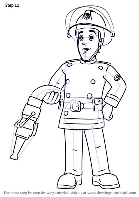 learn   draw elvis cridlington  fireman sam