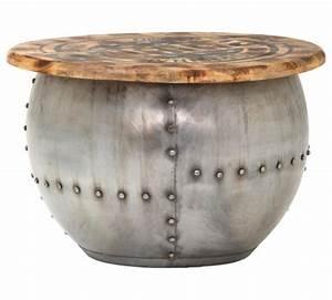 Couchtisch Rund Holz Metall : couchtisch mangoholz massiv rund braun silberfarben online kaufen xxxlshop ~ Bigdaddyawards.com Haus und Dekorationen