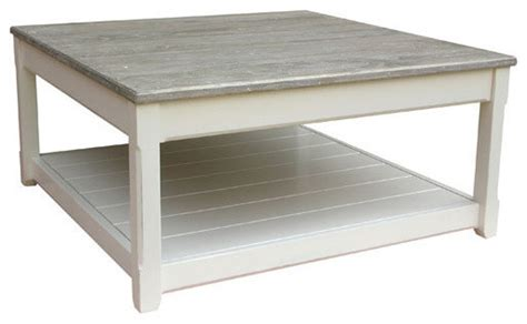 square farmhouse coffee table cottage square coffee table white with riverwash top