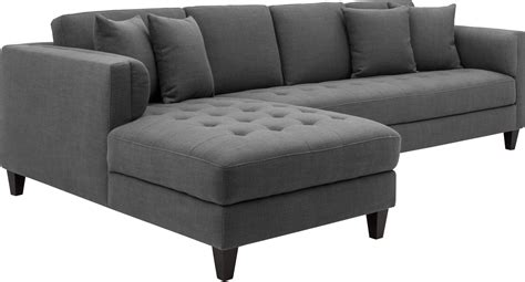 grey sofa chaise arthur grey tweed upholstered laf sofa chaise 102149