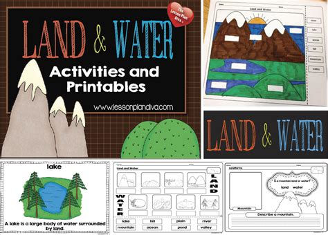 landforms and water activities for 1 4th grade school