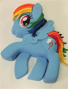 rainbow dash my little pony cake vanilla cakes layered With rainbow dash cake template