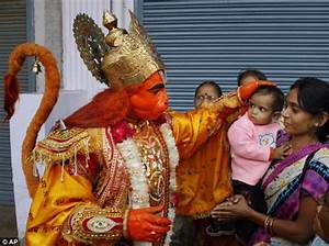 Indian worshipped as a reincarnation of a monkey god ...