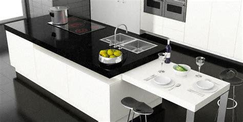 plan de cuisine en quartz davaus cuisine moderne ilot central table avec des
