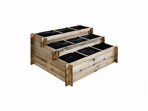 Carre Potager A Etage : carr potager en bois tages grand mod le vente de cemonjardin conforama ~ Louise-bijoux.com Idées de Décoration