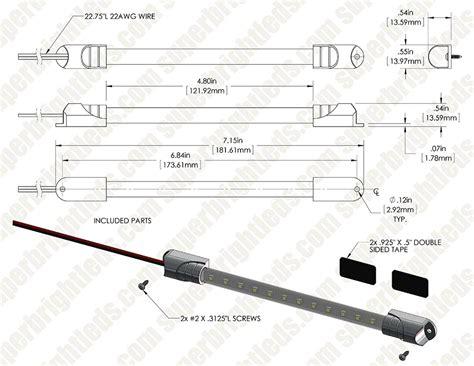 12 inch led tube light 7 inch 12 led light tube 60 lumens led strip lights