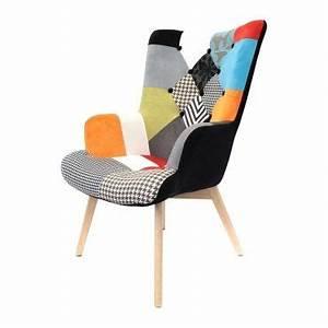 Fauteuil Scandinave Patchwork : fauteuil helsinki patchwork vente de the concept factory conforama ~ Teatrodelosmanantiales.com Idées de Décoration