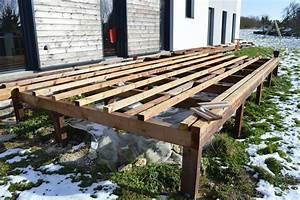 plan de terrasse en bois sur pilotis myqtocom With plan terrasse bois surelevee