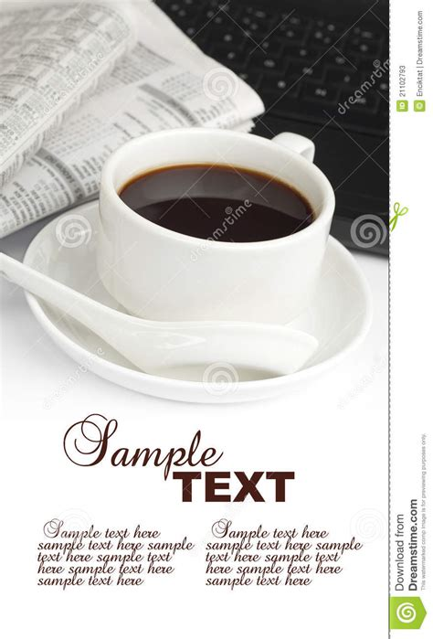 Coffee news® is a fun weekly publication distributed free to restaurants, coffee shops and other waiting areas providing a quick read while waiting. Coffee,newspaper And Notebook Stock Image - Image of copyspace, black: 21102793