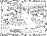 Pumpkin Coloring Patch Pages Printable Clipart Drawing Fall Farm Fairy Amish Scarecrow Club Pdf sketch template