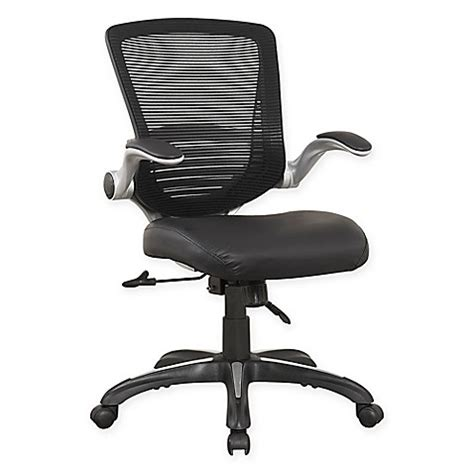 bed bath and beyond desk chair manhattan comfort ergonomic walden faux leather office