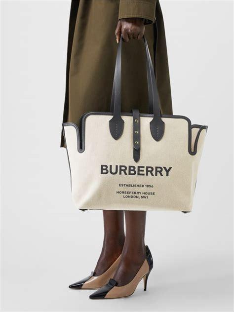medium soft cotton canvas belt bag  black burberry united kingdom