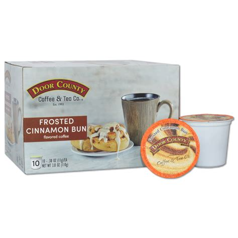 Door county coffee can custom print your special occasion message on our 1.5oz pillow packs of coffee. Door County Coffee Frosted Cinnamon Buns Flavored Coffee K-Cups - 10 Count - Walmart.com