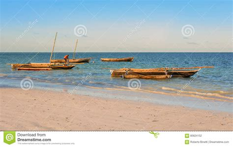 Zanzibar Wooden Boat by Typical Wooden Boats Of Zanzibar Editorial Image