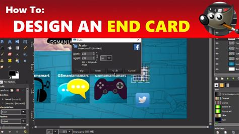 How To Design A Youtube Video End Card  End Slide Using