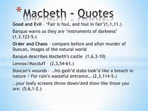 PPT - Macbeth -... Macbeth Banquo Ambition Quotes