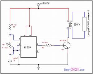 Fluorescent Lamp Driver Circuit Diagram