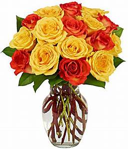 Yellow & Orange Rose Bouquet at From You Flowers