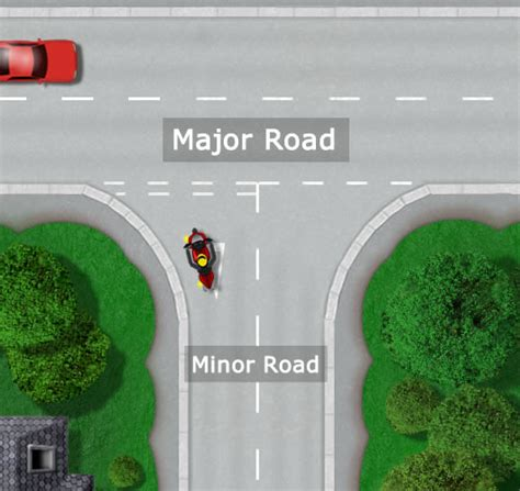 major  minor roads driving test tips
