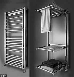 du design dans la salle de bain avec les seche serviettes With porte de douche coulissante avec radiateur seche serviette salle de bain electrique