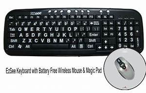 the datacal ezsee usb large print keyboard with battery With large letter wireless keyboard
